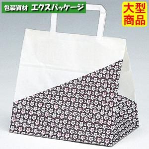 手提袋 ラッピーバッグ No.10 花林 400枚 0121411 ケース販売 取り寄せ品 福助工業|expackage
