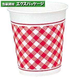 紙コップ ヘイコーペーパーカップ 7オンス Nギンガム レッド 205ml 2000個入 #004535520 ケース販売 取り寄せ品 シモジマ|expackage