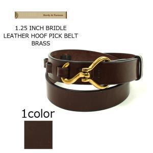 (ハーディアンドパーソンズ) HARDY & PARSONS  1.25 INCH BRIDLE LEATHER BELT-BRASS / 2colors|explorer