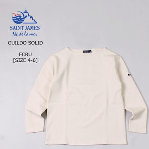 送料無料 T3-T6 セントジェームス ECRU 無地 ボートネック バスクシャツ 2501 SAINT JAMES GUILDO ギルド  メンズ(男性用)|explorer