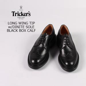 Tricker's (トリッカーズ)  LONG WING TIP w/DINITE SOLE / BLACK BOX CALF explorer
