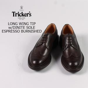 Tricker's (トリッカーズ)  LONG WING TIP w/DINITE SOLE / ESPRESSO BURNISHED explorer