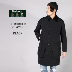 BARBOUR (バブァー)  SL BORDER 2LAYER - BLACK ボーダー コート メンズ|explorer