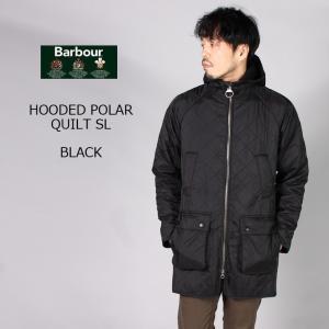 BARBOUR (バブァー)  HOODED POLAR QUILT SL - BLACK キルティングジャケット メンズ|explorer