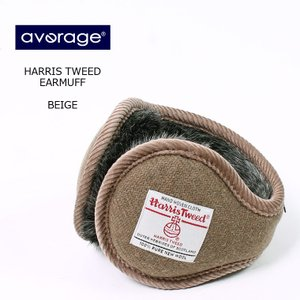 AVERAGE アベレージ  HARRIS TWEED EARMUFF - BEIGE イヤーマフラ...