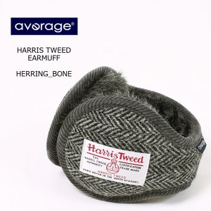 AVERAGE アベレージ  HARRIS TWEED EARMUFF - HERRING BONE...
