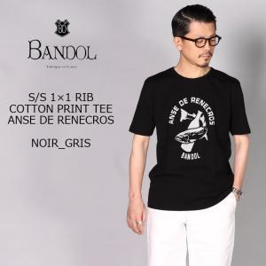 BANDOL バンドール  S/S 1×1 RIB COTTON PRINT TEE - ANSE ...