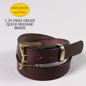 HARDY & PARSONS(ハーディアンドパーソンズ)  1.25 HIGH GROVE QUICK RELEASE-BRASS / CHESTNUT|explorer