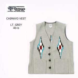 ORTEGA オルテガ  CHIMAYO VEST - LT_GREY|explorer