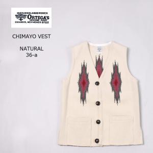 ORTEGA オルテガ  CHIMAYO VEST - NATURAL|explorer