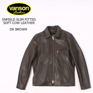 VANSON バンソン  ENFIELD-SLIM FITTED SOFT COW LEATHER - DK BRWON|explorer