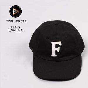 FELCO (フェルコ)  TWILL BB CAP - BLACK / F NATURAL|explorer