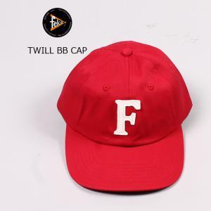 FELCO (フェルコ)  TWILL BB CAP - RED / F NATURAL|explorer