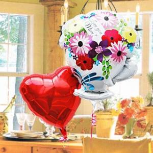 母の日 バルーンフラワー 母の日 2Go 【2】 風船 mother's day 2020 母の日ギフト 電報 祝電 誕生日 母に感謝|express