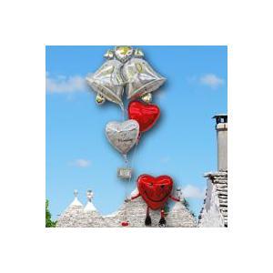 バルーン 電報 即日発送 送料無料 バルーンギフト 結婚式 (スマイリーハート ウエディング delux)(4)7585_11051|express
