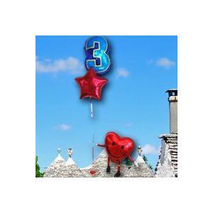 誕生日バルーン電報/ハート/数字/送料無料 (Luckyナンバー バルーン ハッピースマイル)(3)_07585【お祝いバルーン】 孫の誕生日プレゼント|express