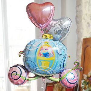 女の子 誕生日バルーン  (キャラ電 シンデレラ キャリー)(3)_26463|express