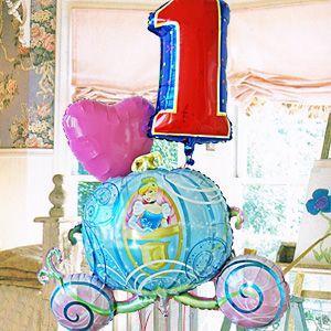 女の子 誕生日 ナンバー バルーン ディズニー (シンデレラ キャリー)(3)_26463 孫の誕生日プレゼント|express