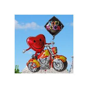 キャラ電 スマイリーライダー 【3】34098 キャラクター バルーン電報 お祝いバルーン  風船 誕生日 バイク|express