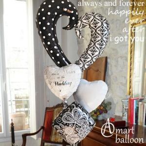 バルーン電報 結婚式 誕生日 バルーン オープンハート  (B/W) 25070_34428 電報 バルーン 誕生日プレゼント ギフト お祝い 開店祝い プレゼント|express