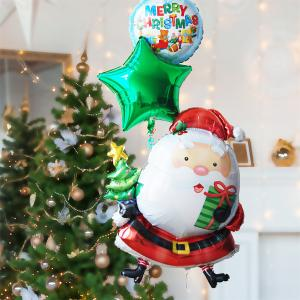 クリスマス バルーン サンタ with ツリー バルーン27229 クリスマスバルーン 風船 クリスマスプレゼント|express