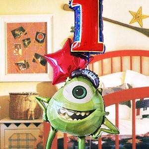 モンスターズインク バルーンギフト(Luckyナンバー バルーン マイク 26202) ディズニー モンスターズユニバーシティ 孫の誕生日プレゼント|express