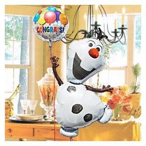 オラフ(withメッセージ) Frozen 28316 発表会、合格、卒業、誕生日、結婚、全てのHappyに♪ 送料無料 お祝い バルーン  アナと雪の女王 ディズニー|express