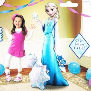 送料無料 バルーン キャラ電 サプライズ (エルサwith 2ハーツ 110087) アナと雪の女王 Frozen エルサのサプライズ 誕生日 お祝い|express