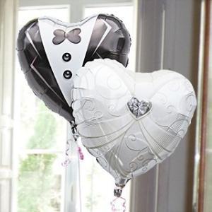 バルーン電報 結婚式 送料無料 (ドレス&タキシード)(2)15791 15784 ウエディング 電報 結婚祝い|express