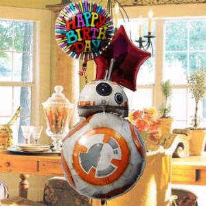 キャラ電 スターウォーズ BB-8 31621 電報 STAR WARS 結婚式 誕生日 バルーンギフト 開店祝い  【starwars_y】 -ファルコン -Xウイング|express