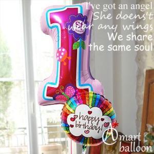誕生日 バルーン 数字 1歳  Big ファースト バースデイ Sweet バースデーガール 29808  女の子 風船 アンパンマン  一升餅 一生餅 一歳のお誕生日プレゼント|express