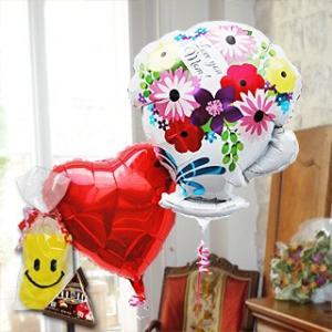 母の日 バルーン Miniチョコ ソックス 付 2Go Love You マム ティーカップ 28093 風船 バルーンギフト 母の日ギフト バルーン電報 電報 祝電|express