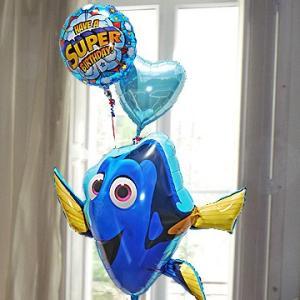 合格祝い 卒業祝い 卒園 祝い ディズニー キャラ電 ファインディング・ドリー 32308  バルーンギフト お祝いバルーン電報 風船 電報 誕生日|express