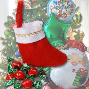 おもりDeco クリスマスソックス with チョコレートキャンディー クリスマスプレゼント キャンディーソックス 靴|express