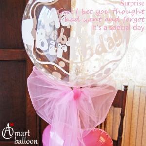 誕生日プレゼント クリア バルーン Happy Birthday  誕生日バルーン バルーン電報 バルーンギフト|express