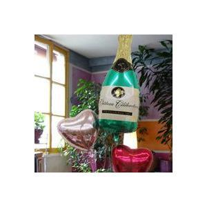 バルーン シャンパン ボトル 04949   バルーンギフト 開店祝い 風船 誕生日バルーン|express