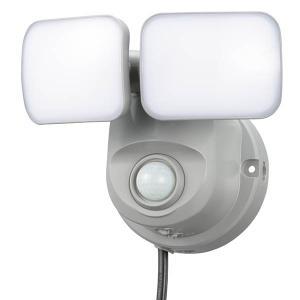 OSE-LS800 LEDセンサーライト(2灯/800lm/コンセント式)OHM オーム電機|exsight-security