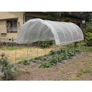 ビニールハウス 間口2.2m×奥行3.6m×高さ2.0m 2うね用 雨よけハウス組立セット  法人も個人も送料無料 DIY exterior-stok