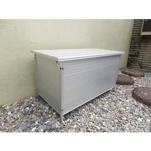 アルミ製ベンチストッカー 幅900mm×奥行450mm×高さ485〜497mm 高さ調整可能  組立簡単 送料無料 DIY|exterior-stok