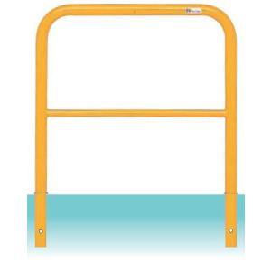 送料無料 鉄製 車止めゲート横桟付き Φ42.7XW700XH650 固定式|exterior-stok