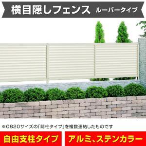 目隠しフェンス幅1974mm×高さ1400mm ステン色 風通しの良いルーバータイプ 格安アルミフェンス 横目隠し 外構 DIY 安心の日本製 送料無料 exterior-stok