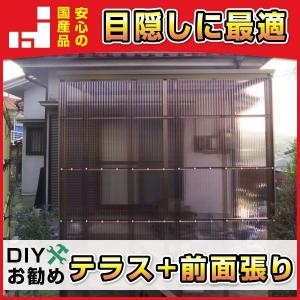 波板テラス屋根 前面張り組立てセット2.0間3602mm×4尺1225mm 波板別 送料無料 DIY|exterior-stok