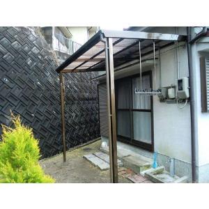 波板テラス屋根 4.0間7202mm×6尺1817mm ブロンズ色 波板別 送料無料 DIY|exterior-stok|03