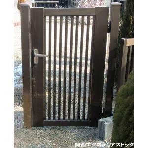 門扉縦格子 片開き 内開き 間口700mm高さ1000mm 送料無料 格安 DIY|exterior-stok