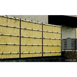 人工竹垣組立てセット 建仁寺垣A さらし竹( 柱見せタイプ)H900mm片面|exterior-stok
