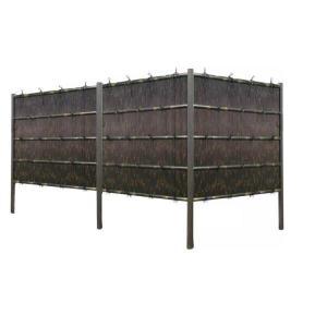 人工竹垣組立てセット 縦みす垣P 黒竹(柱見せタイプ)H900mm両面|exterior-stok