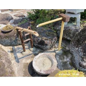 国産天然竹 筧(並)L600mm×H1100mm 職人手作り 送料無料 格安|exterior-stok