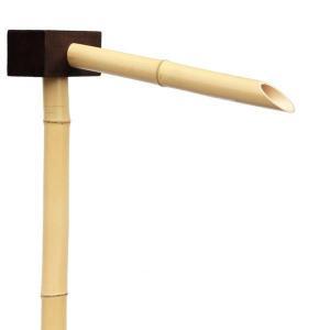 国産天然竹 筧(太口)L600mm×H1100mm 職人手作り 送料無料 格安|exterior-stok