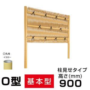 人工竹垣組立てセット 大津垣O(柱見せタイプ)H900mm両面|exterior-stok