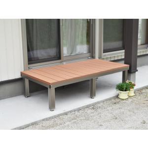 樹脂ウッドデッキ アルミ縁台 1800mm×900mm 送料無料 DIY|exterior-stok